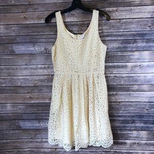 J Crew Size 6 Gorgeous Cream Colored Lace Dress.
